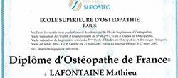 diplôme ostéopathe à paris et Paris 5