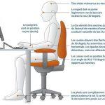 position siège idéal posture au travail