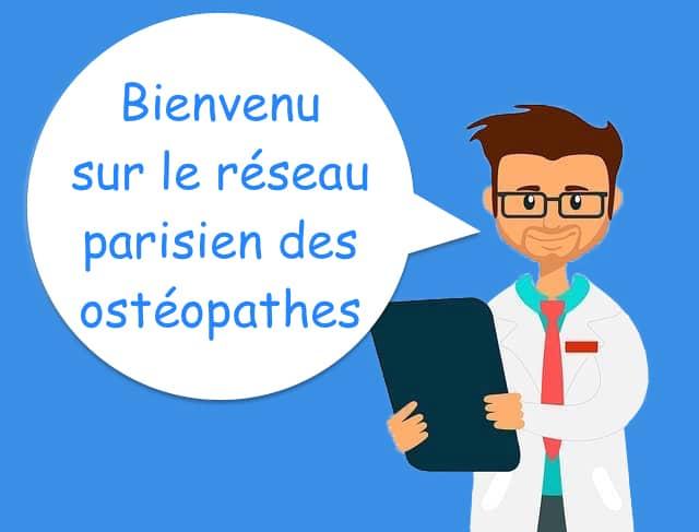 ostéopathe Paris réseau des ostéopathes parisiens