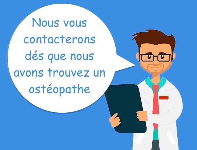 contacter un ostéopathe à Paris pour un RDV