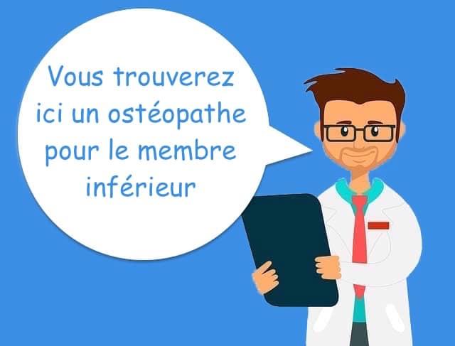 ostéopathe membre inférieur