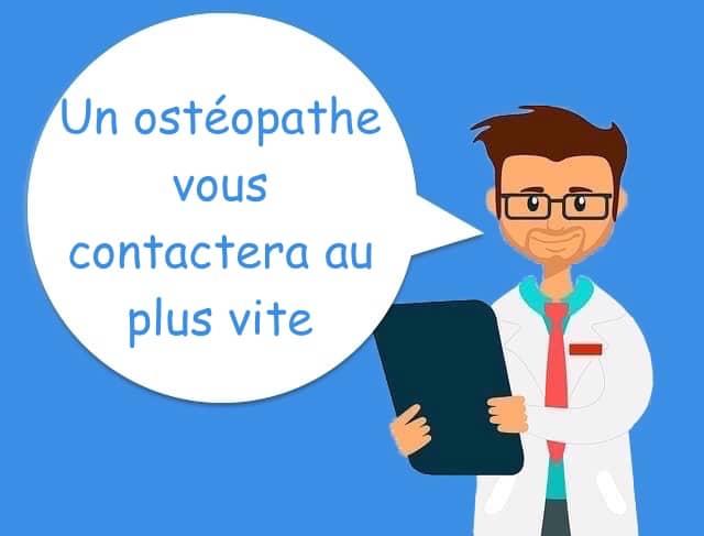 contact ostéopathe pour rendez-vous